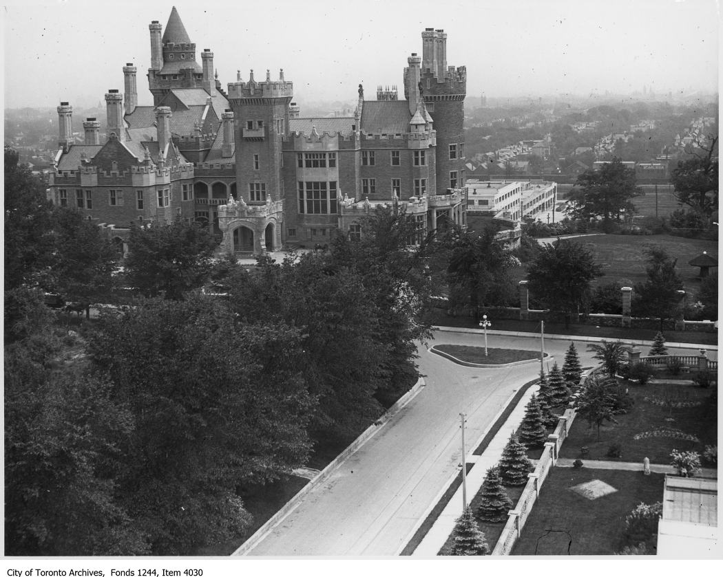 View of Casa Loma from the tower of the stables (1920)