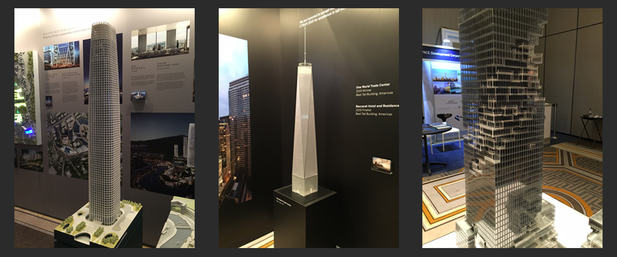 A sample of projects on display at CTBUH 2015.